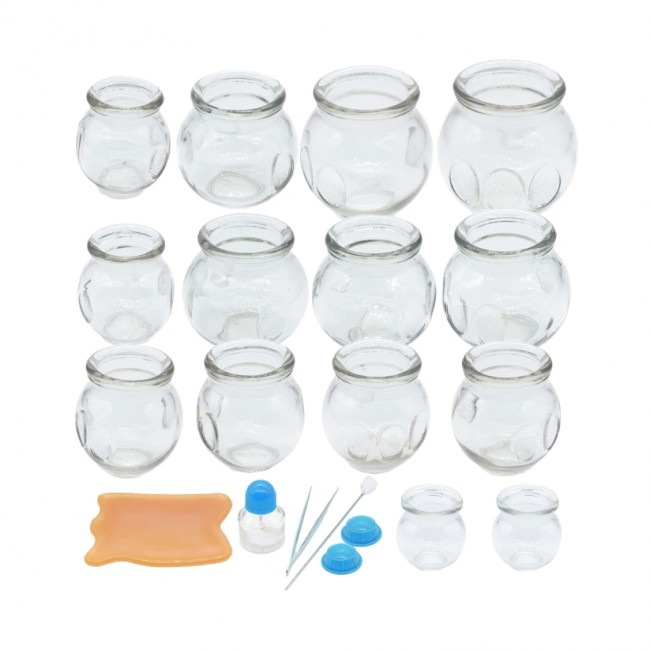Glass Fire Cupping Set